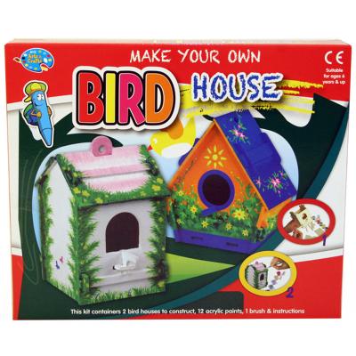MYO WOODEN BIRD HOUSES (2PCS)