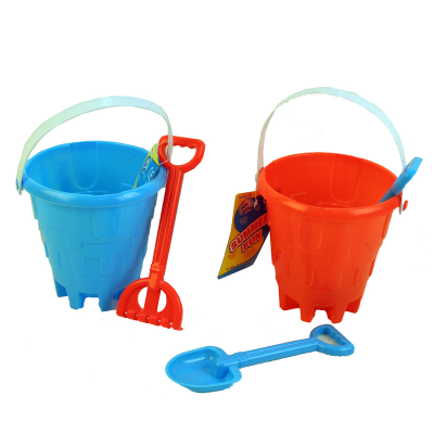 CASTLE BUCKET WITH RAKE OR SPADE