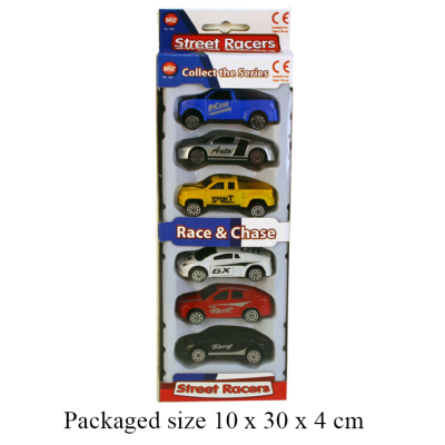 6PCS STREET RACERS
