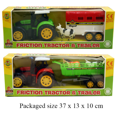FARM TRACTOR & TRAILER 2ASSTD