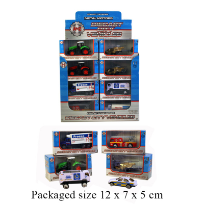 DIECAST CITY VEHICLES IN CDU 8 ASSTD