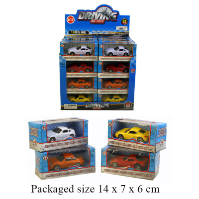 DIECAST SPORTS CARS  CDU (4 ASSTD)
