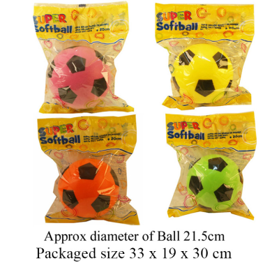 FOAM BALLS 8.5 INCH (4 ASSTD)