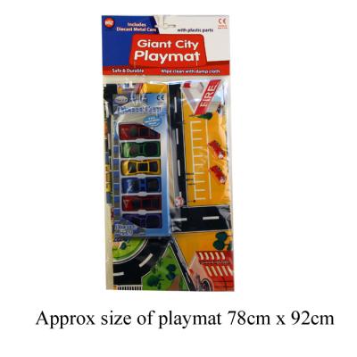 CAR PLAYMAT (6 DIECAST CARS)
