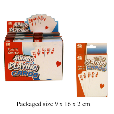 JUMBO CARDS WITH PLASTIC COATING