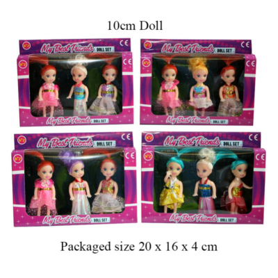 3PCS BEST FRIENDS DOLL