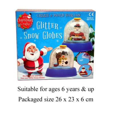 09618 GLITTER SNOWSTORM DOME