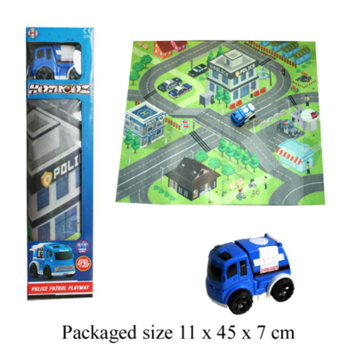 PLAYMAT WITH POLICE CAR