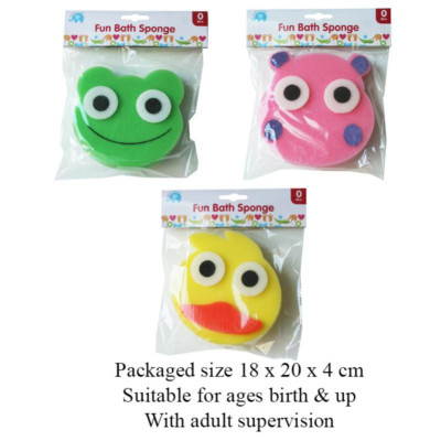 FUN BATH SPONGE  (3 ASSTD)