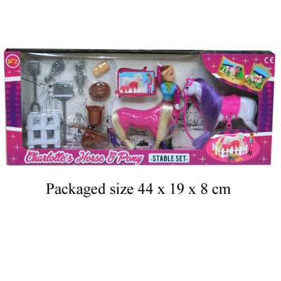 CHARLOTTE'S HORSE & PONY STABLE SET