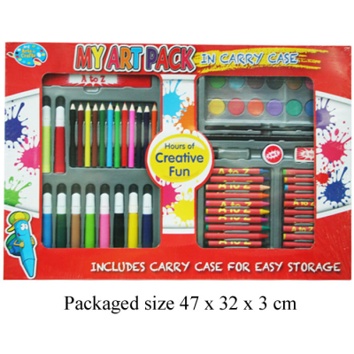 66PCS ARTS & CRAFT SET IN CASE