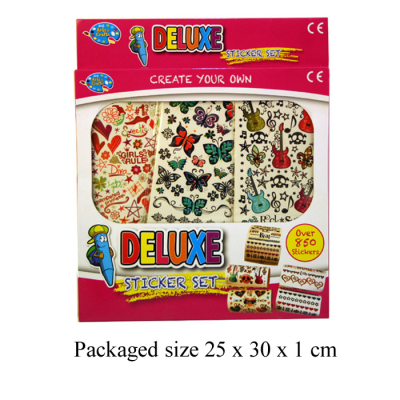 DELUXE BOX OF STICKERS (850+PCS)