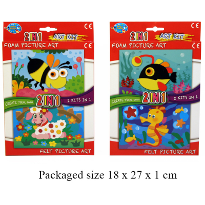 2 IN 1 KITS FOAM/FELT (2 ASST)