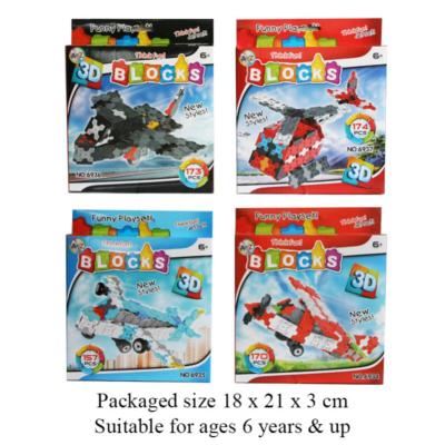 3D AIRCRAFT BLOCKS 4 ASSTD