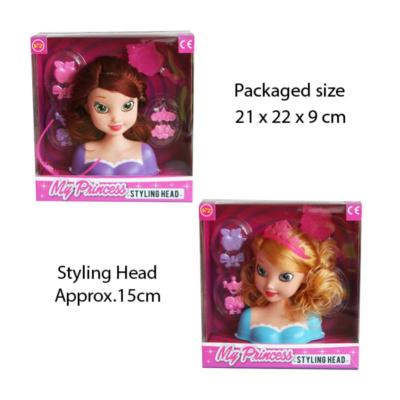PRINCESS STYLING HEAD (2 ASSTD)