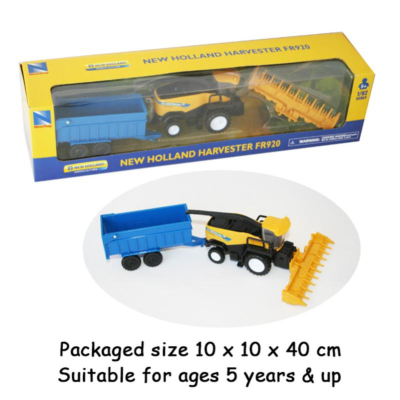 NEW HOLLAND 1:62 HARVESTER W/ATTACHMENTS