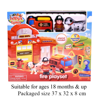 HAPPY TOWN - FIRE PLAYSET
