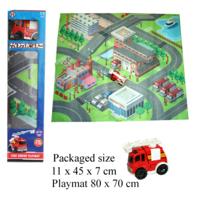 PLAYMAT WITH FIRE TRUCK