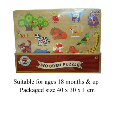 ANIMAL PUZZLE WITH PEGS CDU