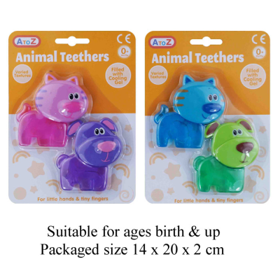2PCS TEETHERS (2 ASSORTED)