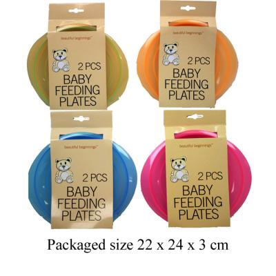 2PCS FEEDING PLATES (4 ASSTD)