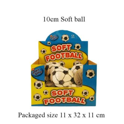SOFT SOCCER BALL 10CM IN CDU
