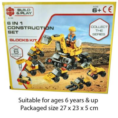 6 IN 1 CONSTRUCTION TEAM BRICKS