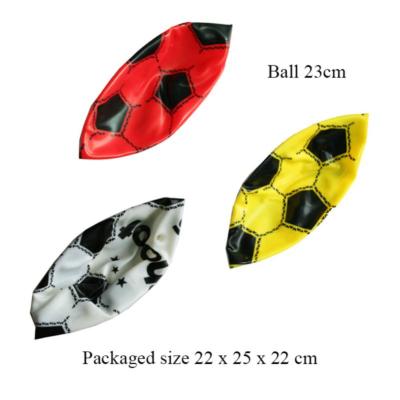SOCCER BALL (3 ASSTD) DEFLATED 23CM