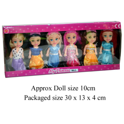 MY 6PCS PRINCESS DOLLS
