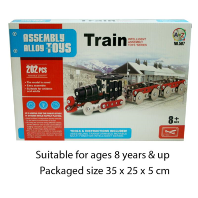 METAL MECHANIC TRAIN 202PCS