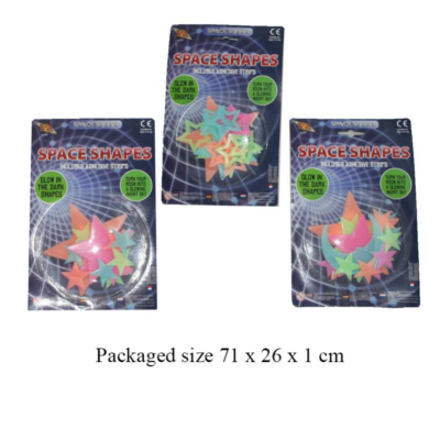 GLOW IN THE DARK SPACE SHAPES