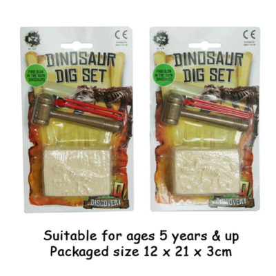 DINOSAUR GLOW IN THE DARK DIG KIT 2 ASST