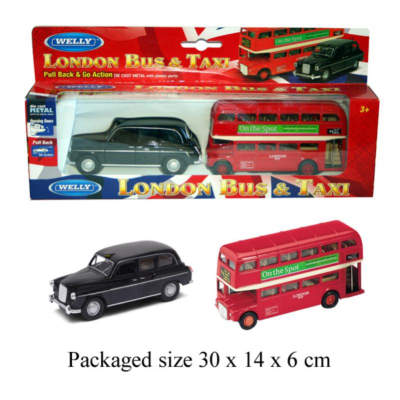 LONDON TAXI & BUS PULL BACK