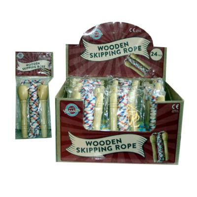 WOOD SKIPPING ROPE