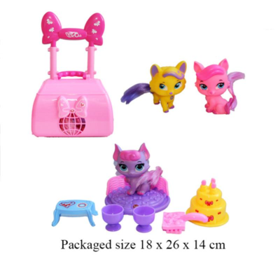 PET CLUB CARRIER WITH ANIMAL (3 ASSTD)