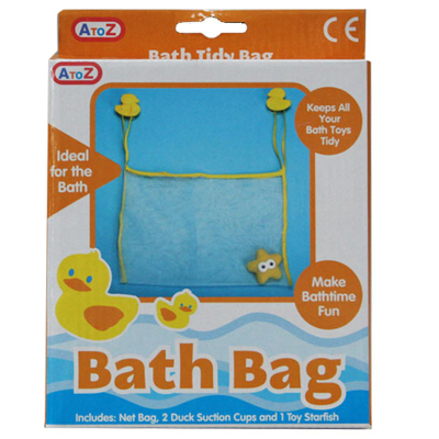 DUCK BATH BAG WITH TOY