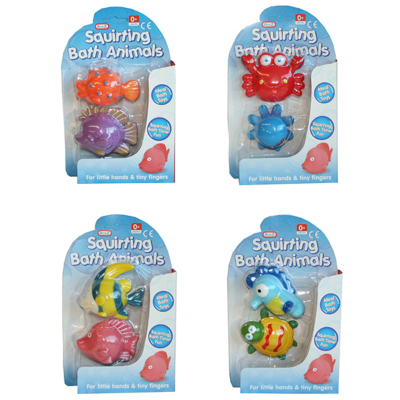 SQUIRTING BATH ANIMALS (2PCS) (4 ASSTD)