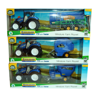 NEW HOLLAND TRACTOR WITH MACHINERY 1:32