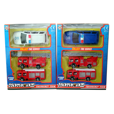POLICE & FIRE 3PCS SET