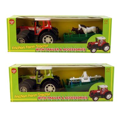 FARM TRACTOR WITH TRAILER (2 ASSTD)