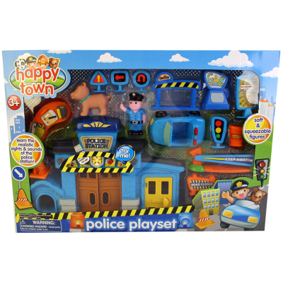 HAPPY TOWN POLICE PLAYSET