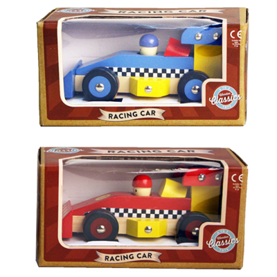 WOODEN RACING CAR 2 ASSTD
