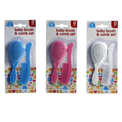 BABY BRUSH & COMB SET (3 ASSTD)