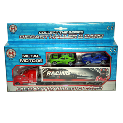 DC CONTAINER TRUCK WITH 2 CARS