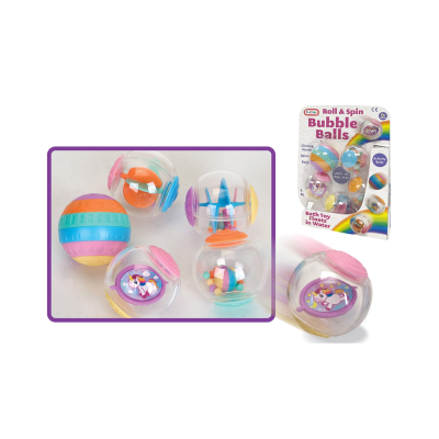 UNICORN SPIN & ROLL BUBBLES 5PCS