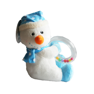 SNOWMAN RING RATTLE