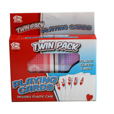 TWIN PACK PLAYING CARDS IN CASE