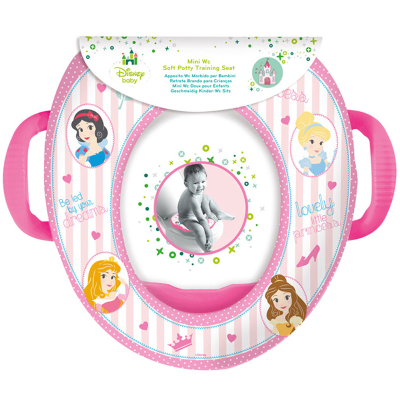 DISNEY TOILET SEAT W/HANDLES PRINCESS