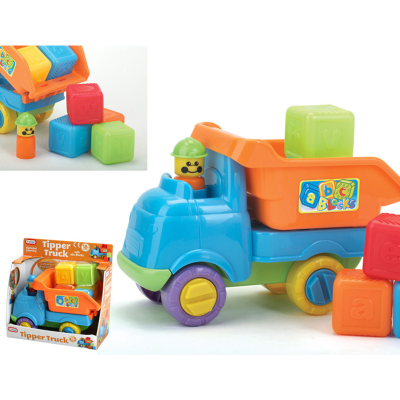 TIPPER TRUCK WITH BLOCKS (O)