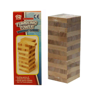 WOOD TUMBLING TOWER LARGE